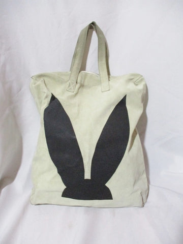 COMME DES GARCONS Suede Leather RABBIT BUNNY EARS Tote Bag Shopper