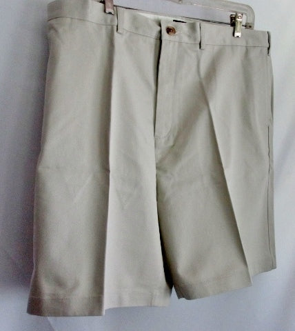 NEW NWT MENS LAND'S END Khaki Chinos SHORTS Short PANTS 40 LT STONE
