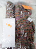 NEW NIP Womens LOF LOVE OF FASHION Infinity NECK SCARF ORANGE Multi Knit