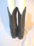 BONANZA Leather Western Cowboy Rocker Riding BOOT 11 BLACK CROC Alligator Rider