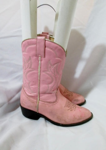 Preschool Kid Girl DURANGO BOOTS Leather Western Cowboy 1 PINK Toddler