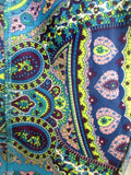 NEW Womens ABS Brand Sweatpants Athletic Workout Yoga Fitness Pants BLUE L Paisley