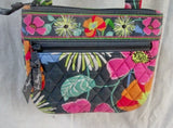 VERA BRADLEY Vegan Quilted Crossbody Shoulder Bag JAZZY BLOOMS GRAY FLORAL S