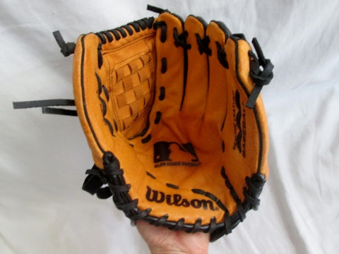 "WILSON 11"" A2451 Baseball Brown Black Leather Glove Softball Fielding"