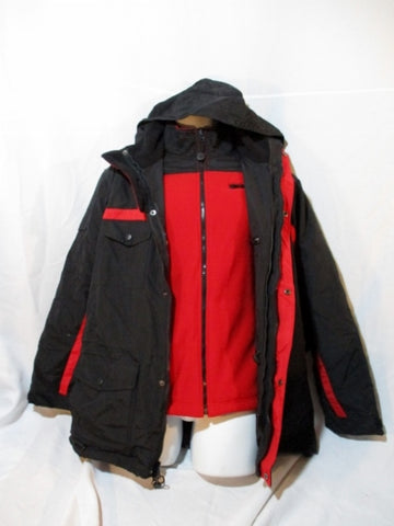 NWT Marlboro Gear 2 in 1 Ski Jacket Winter Coat New Black Red L