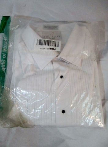 NEW Mens NEIL ALLYN Pleated Tuxedo Shirt WHITE XL - 36/37 Formal Wedding