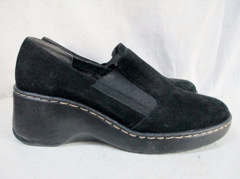MINT Womens AERGO AEROSOLES MOC Suede Leather Slip on Shoe 10 BLACK Loafer