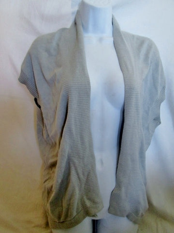 Womens SPARROW ANTHROPOLOGIE Knit VEST SWEATER GRAY XS Angora Cotton Blend