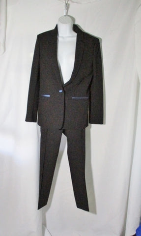 NEW NWT CELINE Set TWISTED WOOL Pant Suit 36 / 38 S BLACK BLUE FORMAL SILK