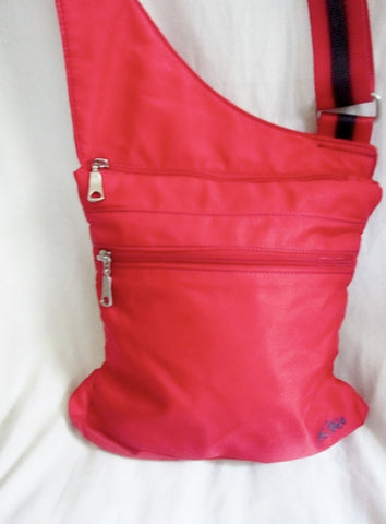 FAT FACE Nylon shoulder travel bag man purse crossbody RED CHILE vegan organizer