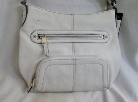 NEW TIGNANELLO Leather POCKET PERFECTION Crossbody Bag WHITE M Organizer