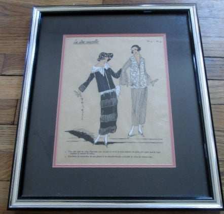 Antique 1920s LES IDEES NOUVELLES DE LA MODE JOUMARD ART Print French FASHION