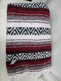 Set 2 SDC FALSA BLANKET Fringe Faux Serape Mexican Throw 46X74 Hippie Bedspread