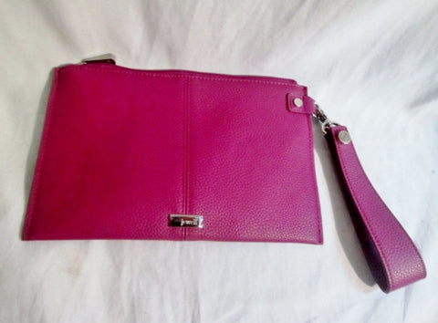 NEW THIRTY-ONE JEWELL Wristlet Purse Wallet Clutch Vegan Pouch Case PURPLE GRAPE
