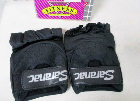 NEW Mens SARANAC WL04 Leather Workout Core Fitness Gloves BLACK L