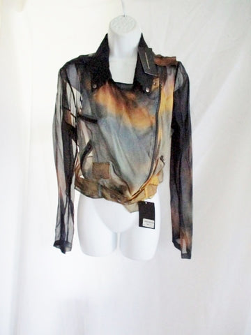 NWT New CHRISTOPHER KANE Silk Jacket 10 SUNSET CLOUDS Belt