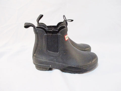 HUNTER Short Booties Wellies Rain Boots Gumboots BLACK 37 Women 6 Men 5