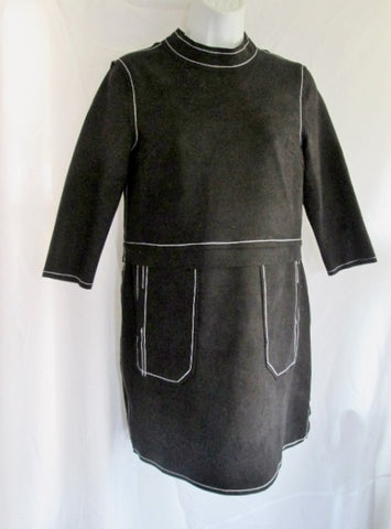 NWT NEW WOMENS STYLEWE VEINFUNS Mini Dress BLACK STITCH WHITE S