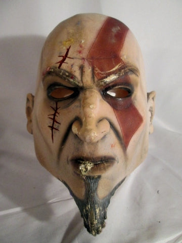 GOD OF WAR Monster MASK HALLOWEEN Party Disguise Cosplay Scary Villain DON POST