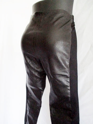 BALENCIAGA LEATHER Skinny Trouser PANTS BLACK 38 6 Goth Womens Stretchy