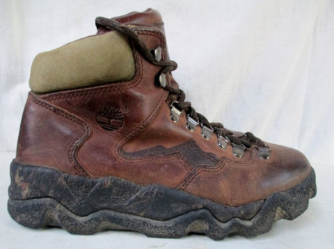 Mens TIMBERLAND WATERPROOF Leather HIKING Work Boots All Terrain Shoes BROWN 8 Hunting