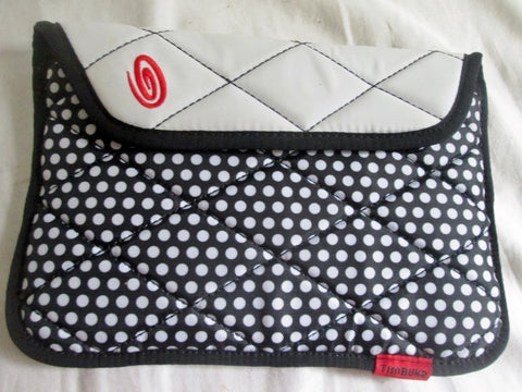 "NEW 5.5X8.5"" TIMBUK2 PHONE Technology Tablet Sleeve Case Phone Case Padded Carrier BLACK DOT"
