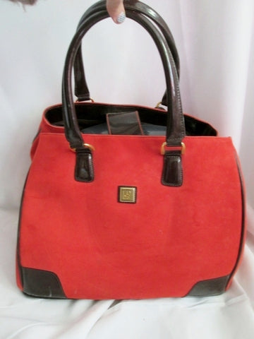 DIANE VON FURSTENBERG DVF Duffle Bag Travel Carry-On Suitcase ORANGE RUST RED