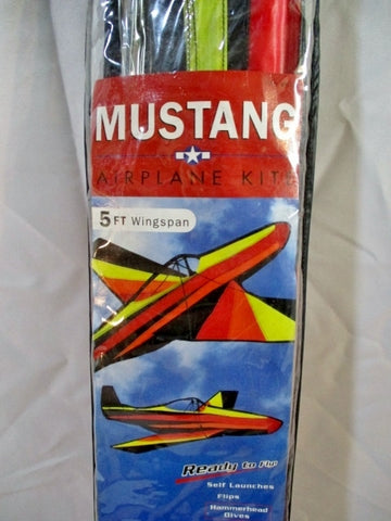 NEW THE KITE FACTORY MUSTANG AIRPLANE AIRSHOW KITE 5 Ft Wingspan