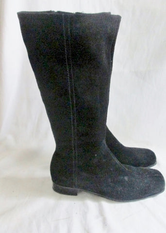 Womens LA CANADIENNE 22248 Suede Leather Tall BOOT Shoe Waterproof BLACK 9.5