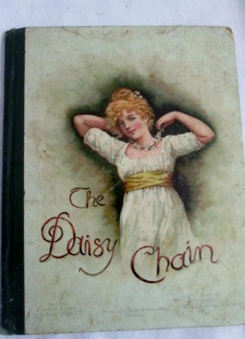 Antique 1890 THE DAISY CHAIN Hardcover HC Book Bingham Childrens Color Illus