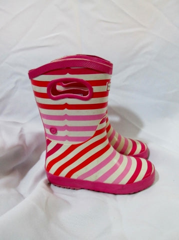 Kid Preschool Toddler HUNTER Wellies Rain Boots Rainboots 1 PINK RED STRIPE Childrens