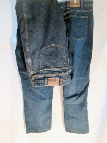 Lot 2 Mens DULUTH TRADING CO. DENIM BLUE Jeans Pants DUNGAREES 46 X 30