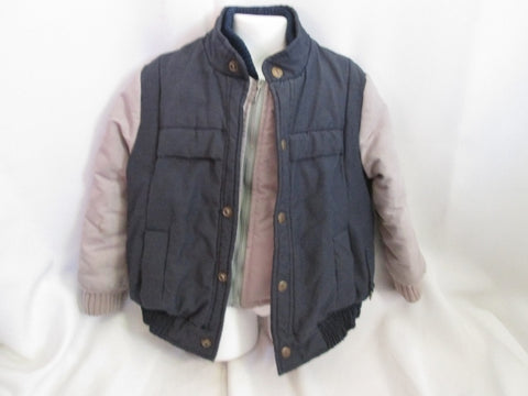 Vintage Boys Kids Girls Youth YVES SAINT LAURENT YSL Jacket Coat 6 BLUE GRAY