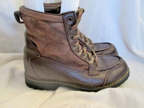 Mens GORILLA USA 1904 HIKER Leather Ankle Chukka Boots Shoes BROWN 7.5 Booties