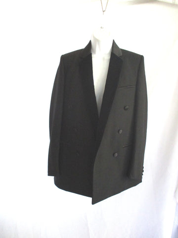 New NWT CELINE FRANCE Blazer Jacket Coat 36 BLACK WOOL Formal Wedding
