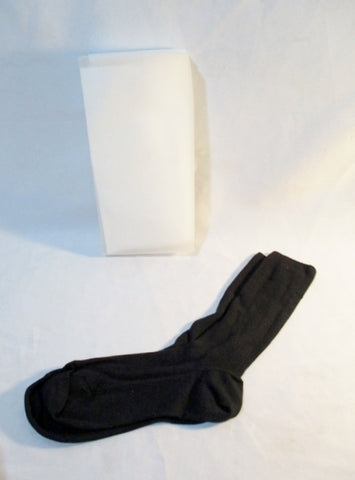 NEW PRADA ITALY CASHMERE SILK Ankle Socks I / 1 BLACK