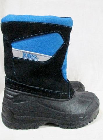 Boys Girls TOTES Insulated Waterproof Rain Snow Boots Winter 13 BLACK BLUE