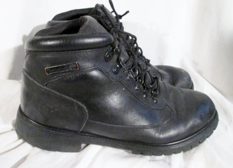 Mens TIMBERLAND NEWMARKET Leather HIKING Work Boots Trekking BLACK 12 Shoes