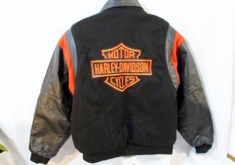 Mens  HARLEY-DAVIDSON MOTORCYCLES Leather Jacket BLACK M Moto Biker Riding