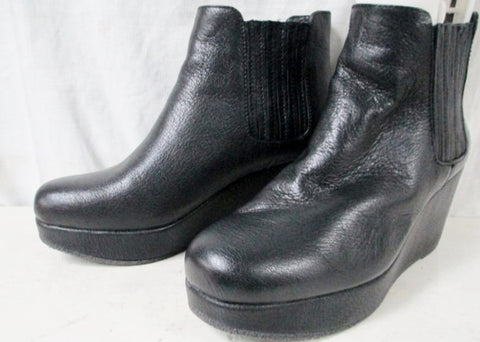 Womens BCBGeneration KAROL Wedge Ankle Bootie BLACK 9.5 BOOT High Heel