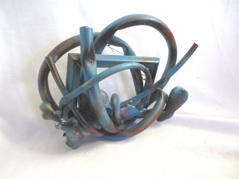IRENE NEAL FABER BIRREN Sculpture Wall Art Abstract NEW PAINTERS BLUE