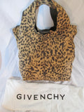 NEW GIVENCHY GEORGE V Suede Leather Bag Satchel Purse LEOPARD $1455 NWT Cheetah