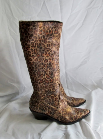 Womens DONALD PLINER JUKLA Clingy Tall Cougar LEOPARD Boot 12 JAGUAR