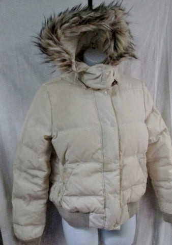 Womens AEO AMERICAN EAGLE OUTFITTERS Puffer Jacket Coat Hood Down Ski M WHITE