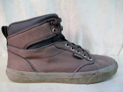 Mens VANS Hi-Top OFF THE WALL Sneaker Trainer Athletic Shoe BROWN 8 Canvas