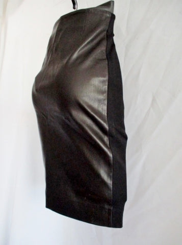 NEW NWT BALENCIAGA LEATHER France Pencil SKIRT BLACK 38 6