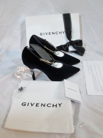 NEW GIVENCHY Velvet PURPLE CALF VIO Stiletto Heel Pump Shoe 36 6 Womens NIB