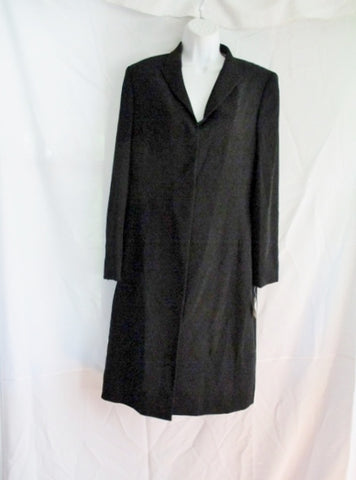 NEW NWT NIEMAN MARCUS SUITS ANNE KLEIN Maxi Blazer jacket 10 BLACK Womens Coat