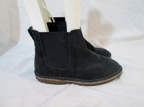 Kids Girls J. CREW CREWCUTS Ankle Chukka Suede BOOT Shoe BLACK 3 Booties
