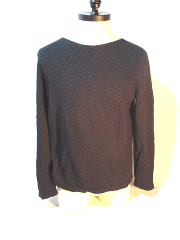 DRIES VAN NOTEN PINWHEEL COTTON ALPACA Sweater BLACK L Mens Jumper